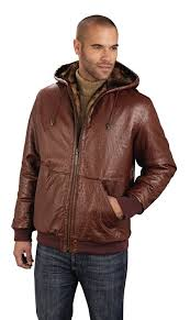 men s leather ostrich embossed reversible jacket