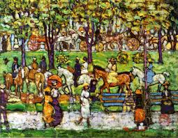 central park maurice prendergast oil painting