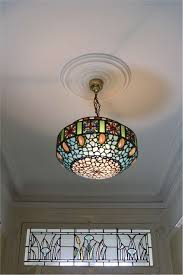 stunning hanging lamp shade with abalone shellulti coloured glass