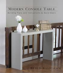 Diy entry table plans Ana White Modern Console Table Build Basic Build Modern Console Table u2039 Build Basic