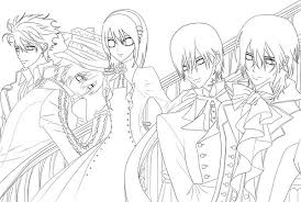 Small Picture vampire knight anime coloring pages vampire knight anime coloring