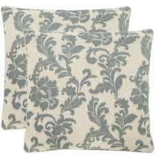 slate blue pillows. Wonderful Slate Safavieh Acanthus Leaves 22inch Ivory Slate Blue Decorative Pillows Set  Of 2 In