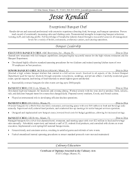 resume sample for chef  socialsci coresume