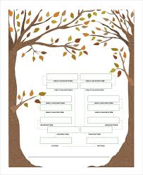 pedigree tree family tree template