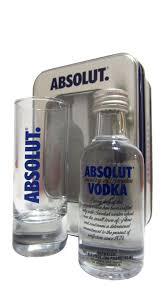 vodka absolut 5cl miniature gl gift set