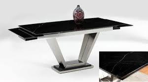 black lacquer table with marble extensions and leather chairs black lacquer dining room