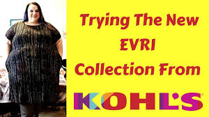 Evri Size Chart Trying The New Evri Collection At Kohls Plus Size Try On