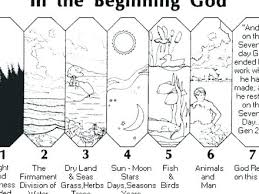 7 Days Of Creation Coloring Pages Days Of Creation Coloring Pages