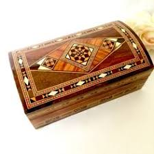 Small Decorative Wooden Boxes Small decorative wooden box Jewelry box Trinket box Ornate 58