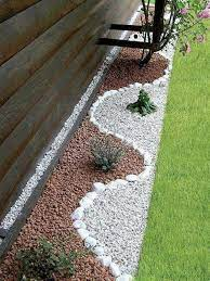 garden decoration with stones for