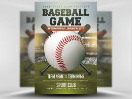 26 Amazing Baseball Flyer Templates Psd Ai Docs Pages