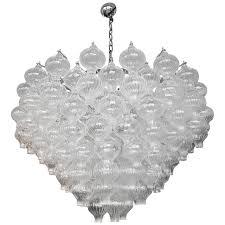murano glass 1960s tulip chandelier for