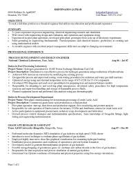 Resume For Entry Level Engineer Experienced Chemical Engineer Resume