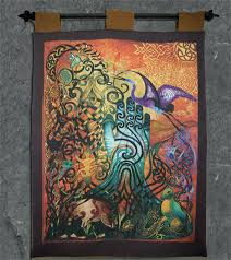celtic wall tapestry wall hanging celtic tree of life tapestry wall hanging