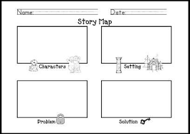 Story Map Template Kindergarten Story Map Template Literacy Stations Pinterest