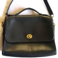 Black vintage coach purse