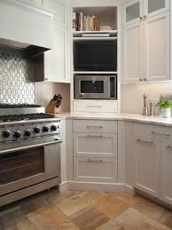 kitchen design microwave placement