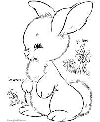 Preschool Easter Coloring Pages 001