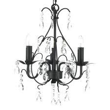plug in chandelier lighting gallery wrought iron and crystal 3 light swag plug in chandelier plug