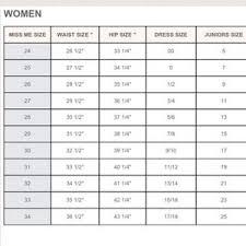 Jeans Size Chart Miss Me Jeans Size Chart Conversion