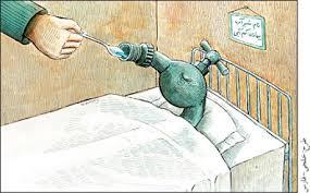 Image result for كاریكاتور بحران آب