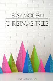 modern christmas decorations - modern christmas trees tutorial