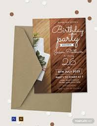 Free 26th Birthday Party Invitation Template Word Psd