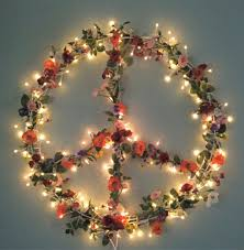 Peace Sign Bedroom Decor Peace Hippie Boho Floral Christmas Peace Sign Wreath Boho