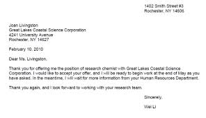 letter to accept job letter of acceptance learn science at scitable