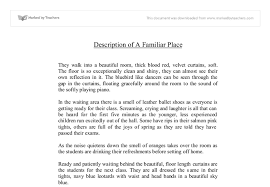desciptive writing of a familiar place dancer studio gcse  document image preview