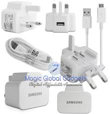 samsung phone charger. genuine white samsung mains charger plug \u0026 usb cable for galaxy mobiles phone