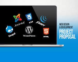 Project Proposal Presentation Web Design Development Project Proposal Powerpoint Presentation Template Visual Hierarchy