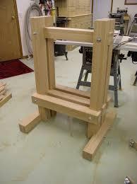 apple cider press completed frame