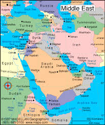 Map Of The Middle East With Facts Statistics And History