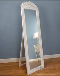 tall standing mirrors. Kingston This Beautiful Distressed White Wooden Frame Rectangular Mirror Is Truly Angelic With Its Cherub Crested Top. Floral Decorative Detail \u2026 Tall Standing Mirrors L
