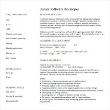 Software Engineer Resume Samples This Is Software Engineering Resume Junior Software Developer Resume 36
