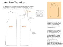 Tank Top Pattern Magnificent How To Make A Latex Tank Top For Men And Women Making Latex Clothing
