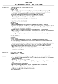 tax specialist resume specialist tax resume samples velvet jobs
