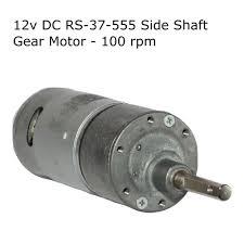 Robocraze 12v <b>DC</b> RS-<b>37</b>-555 Side Shaft <b>Gear</b>, <b>Geared Motor</b> - 100 ...