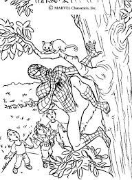 Small Picture Spiderman saving a cat coloring pages Hellokidscom