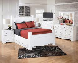 White Twin/Full/Queen/King Bedroom Set with Optional Q/K Under Bed ...
