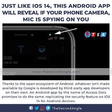 An Android app called Access Dots created by XDA developer jagan2 does for  the Android smartphones what iOS 14 did automatically for iPhone users: it  uses littl…
