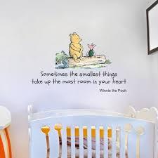 winnie the pooh e large nursery bedroom wall sticker decal mural vinyl art