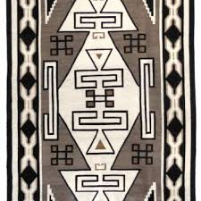 Navajo rug designs two grey hills Navajo Weaving Navajo Two Grey Hills Trading Post Rug C1930 Medicine Man Gallery Navajo Rugs And Blankets Shiprock Santa Fe