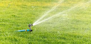 Image For Lawns A Close Up Of A Horizontal Oscillating Sprinkler For Lawns That