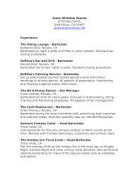 Remarkable Head Bartender Resume Skills With Bartender Resume
