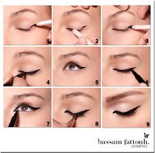 makeup cat eye step by step by bam fattouh tricks of the trade cat eyes step by