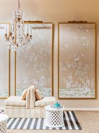 classic wall decoration using wall panels with chinoiserie