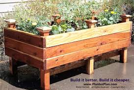 creative raised patio planter box plans from elevated planter bed good for folks who like to