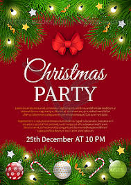 Sample Of Christmas Party Invitation Christmas Party Invitation Poster Sample Card Vector Clipart